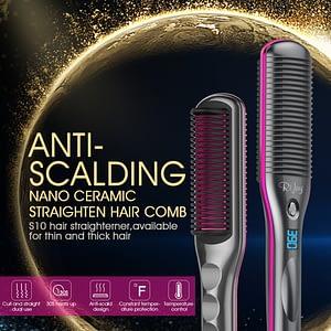 Xclusive design. inc's Hair-Straightener-Brush-Rifny-Heated-Straightening-Comb-with-Anti-Scald-Auto-Temperature